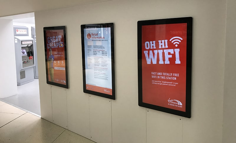 Android Advertising Displays - Birmingham Airport-2