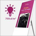 700cd/m2 brightness light bulb icon