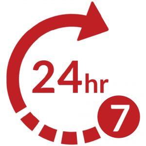 24/7 usage icon
