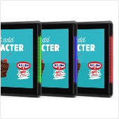 "10"" POS Displays with multi-coloured LED frames in green, blue and red"
