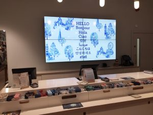 LCD Video Wall in Retail Store