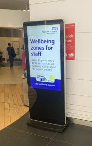 Digital Poster display at St Thomas' Hospital in London