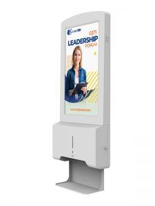 Hand Sanitiser Android Advertising Display - White Background Image