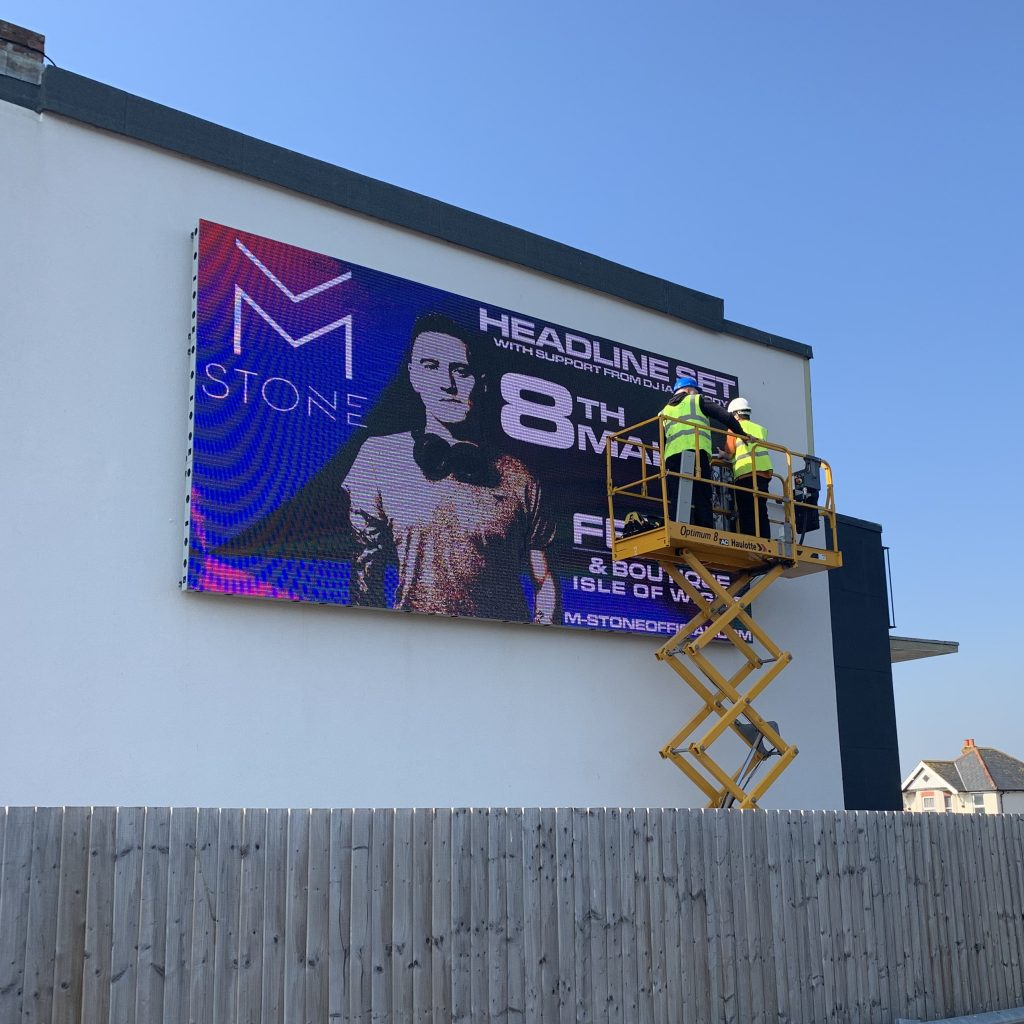 Outdoor LED Video Wall being installed at Spithead Business Centre