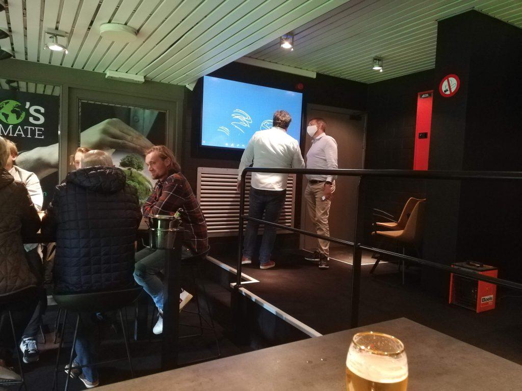 Interactive Touch Display at KVK Football Club