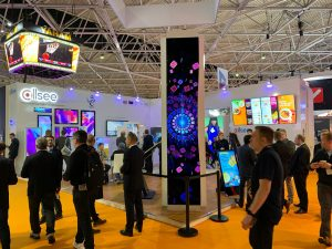 Allsee Curved OLED Video Wall at ISE 2020