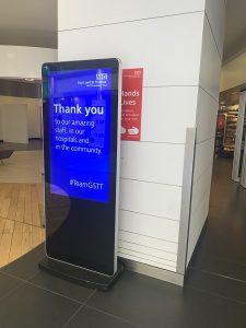 Freestanding Digital Posters - St Thomas' Hospital, NHS - London
