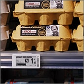 Allsee Electronic Shelf Labels on retail shelving