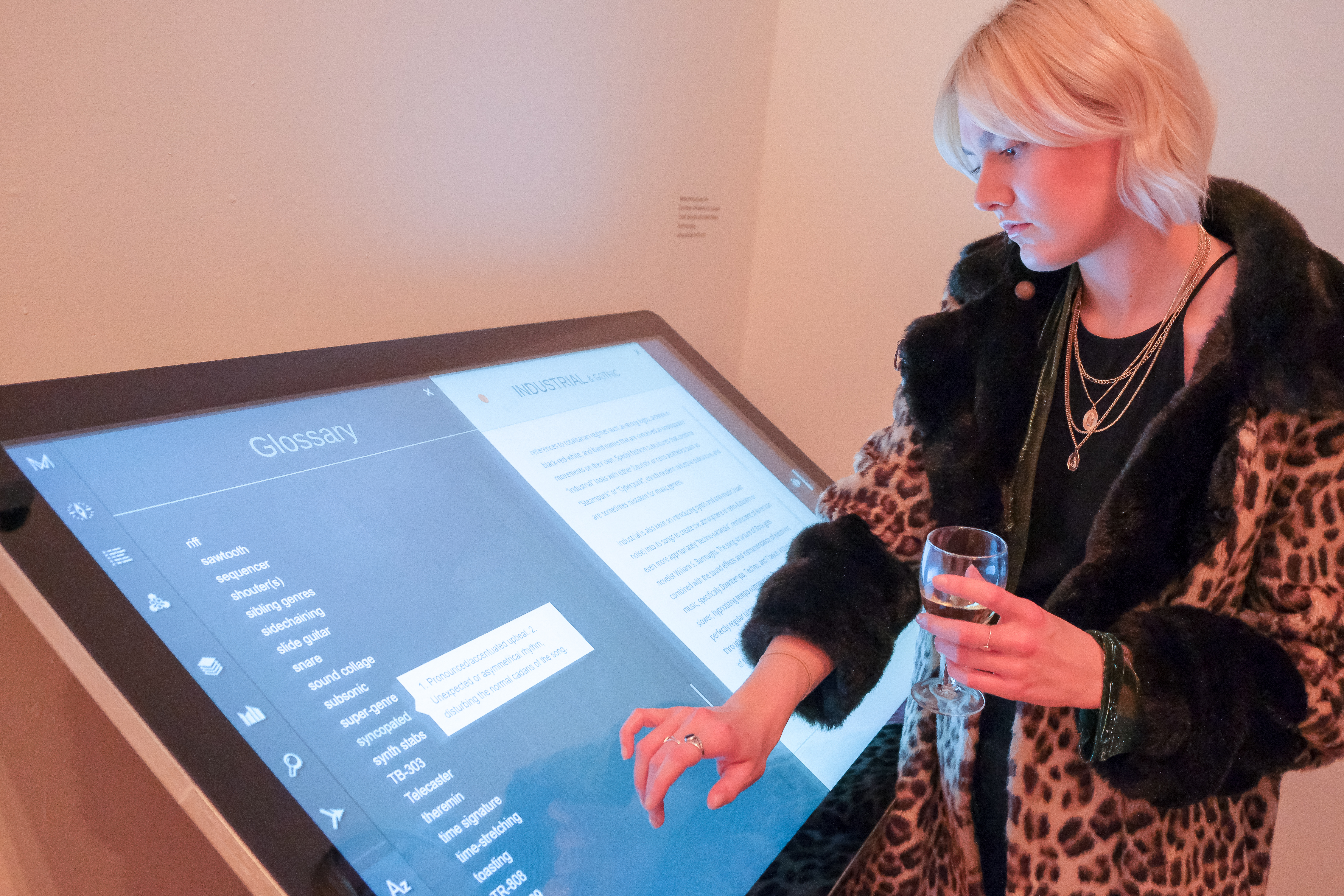 Exhibition visitor using PCAP Touch Screen Kiosk