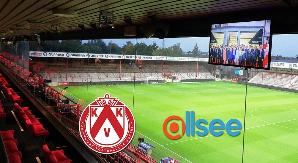 Allsee KV Kortrijk Digital Signage Partnership