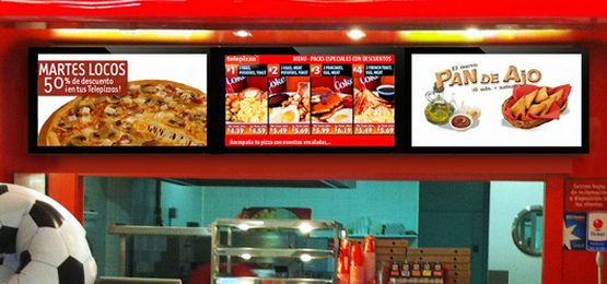 digital advertising display digital menu board