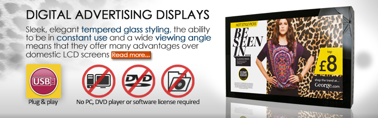 digital signage advertising display hd plug and play