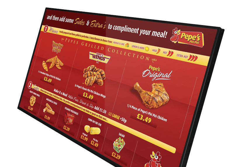 Network Digital menu Boards digital signage screens
