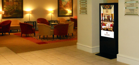 office digital signage freestanding