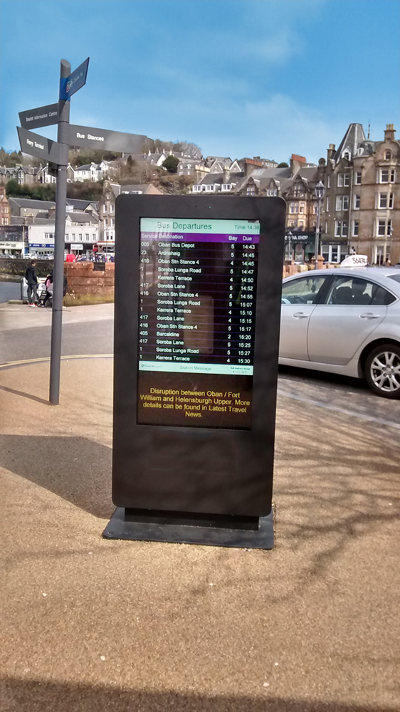 digital signage screens outdoor public square street