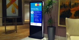 freestanding digital signage poster