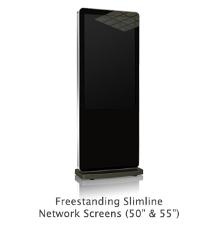 multi touch screen totem freestanding