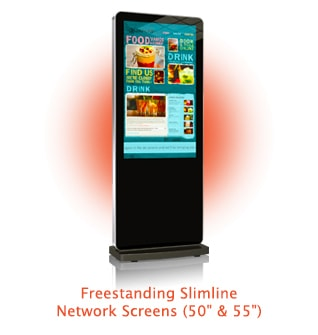 multi touch screen totem freestanding highlighted