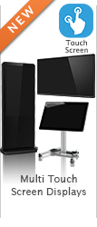 wall mounted free standing kiosk multi touch screen display