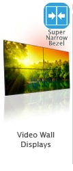 super ultra narrow bezel lcd video wall display content