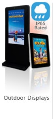 waterproof ip rated outdoor displays content