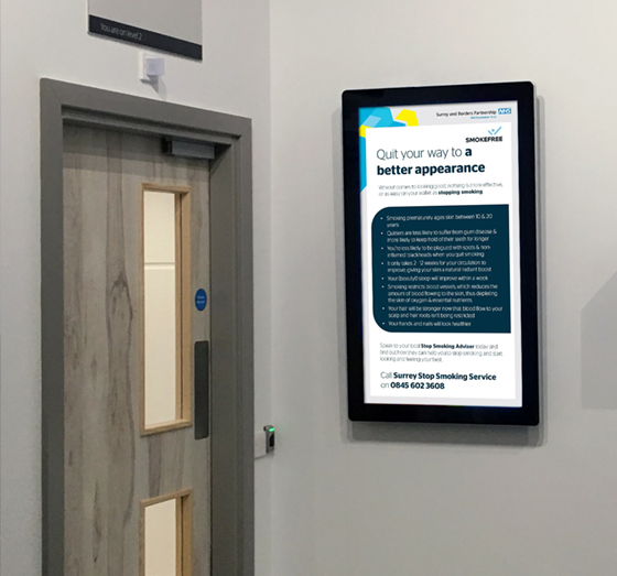 Farnham Road Hospital digital signage case study
