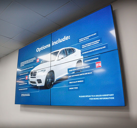 H2O Car Valeting signage case study