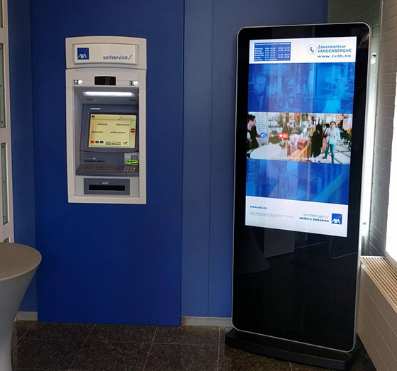 top uses digital signage banking