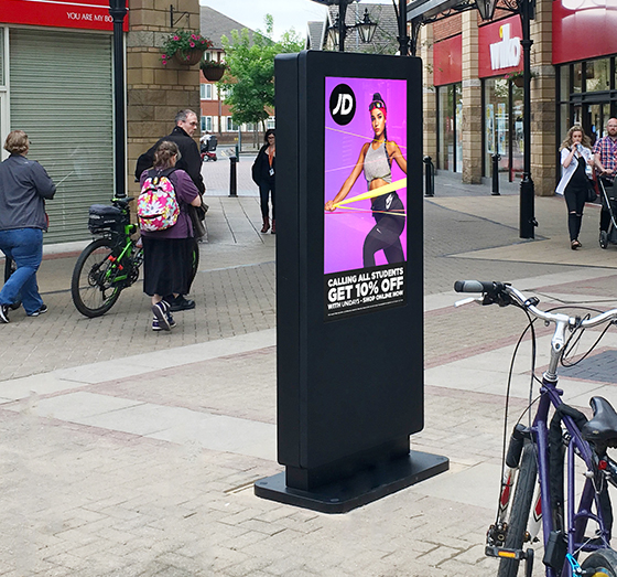 captain cook square digital signage case study
