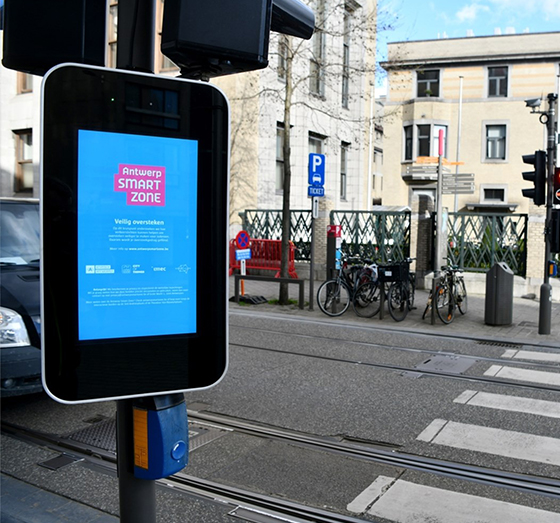 antwerp smart city digital signage case study