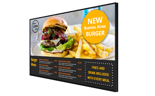 POS display 10 inch digital signage screen point of sale