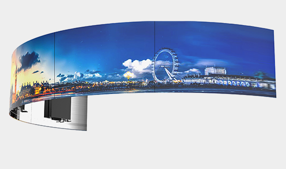Curved OLED Video Wall