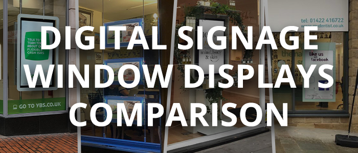 digital signage window displays comparison
