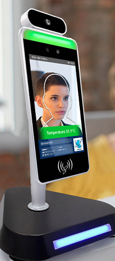 Facial Recognition Thermometer Display