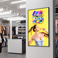High Vibrance Android Advertising Displays