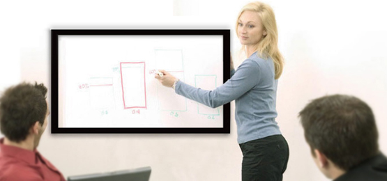wall mounted multi touch screen display classroom education meeting