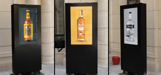 hotel outdoor lobby digital signage freestanding