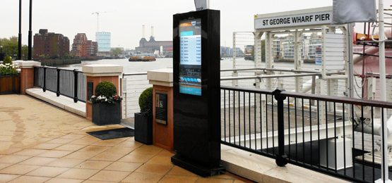 outdoor retail digital signage freestanding