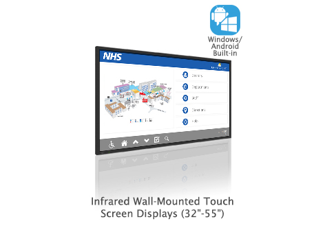 wall mounted touch screen highlighted