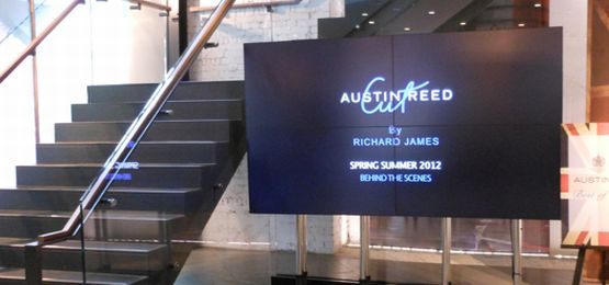 LCD Video Wall stand for Austin Reed designer